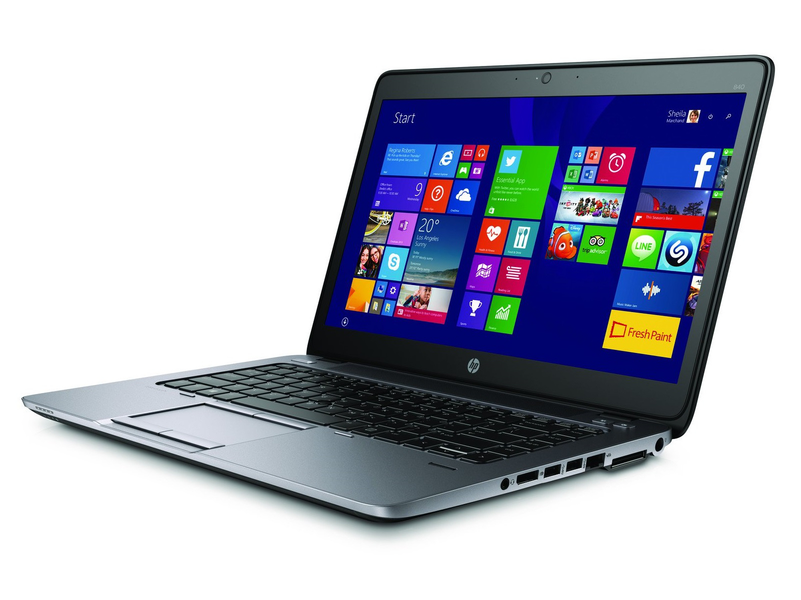 "Art. Portátil Ultrabook Hp EliteBook 840 G2 (Intel Core i5 5200u 2.20Ghz/4GB/128GB-SSD/14""/NO-DVD/W8P) Preinstalado"